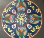 """""""Wise Woman"""" Mandala by Patti Ashley, completed at theWake Up to Your Dreams Retreat, October 6, 2013"""